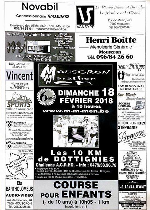 10km de Dottignies 2018