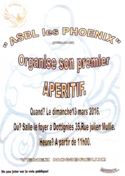 Apéritif de l'ASBL les Phoenix