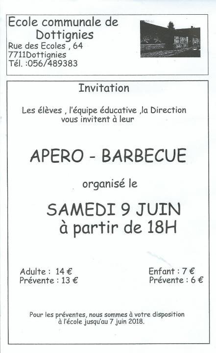 Apero Barbecue Ecole Communale - 2018