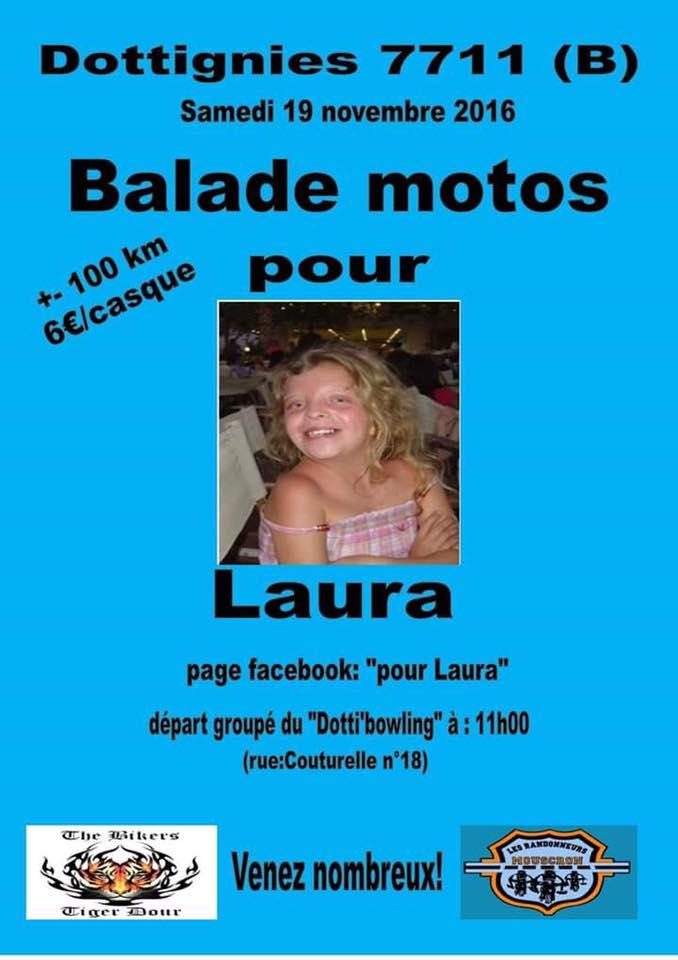 Balade en motos pour Laura  - 2016