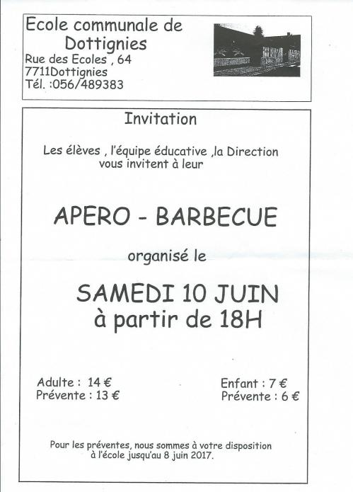 Barbecue ecole communale 2017