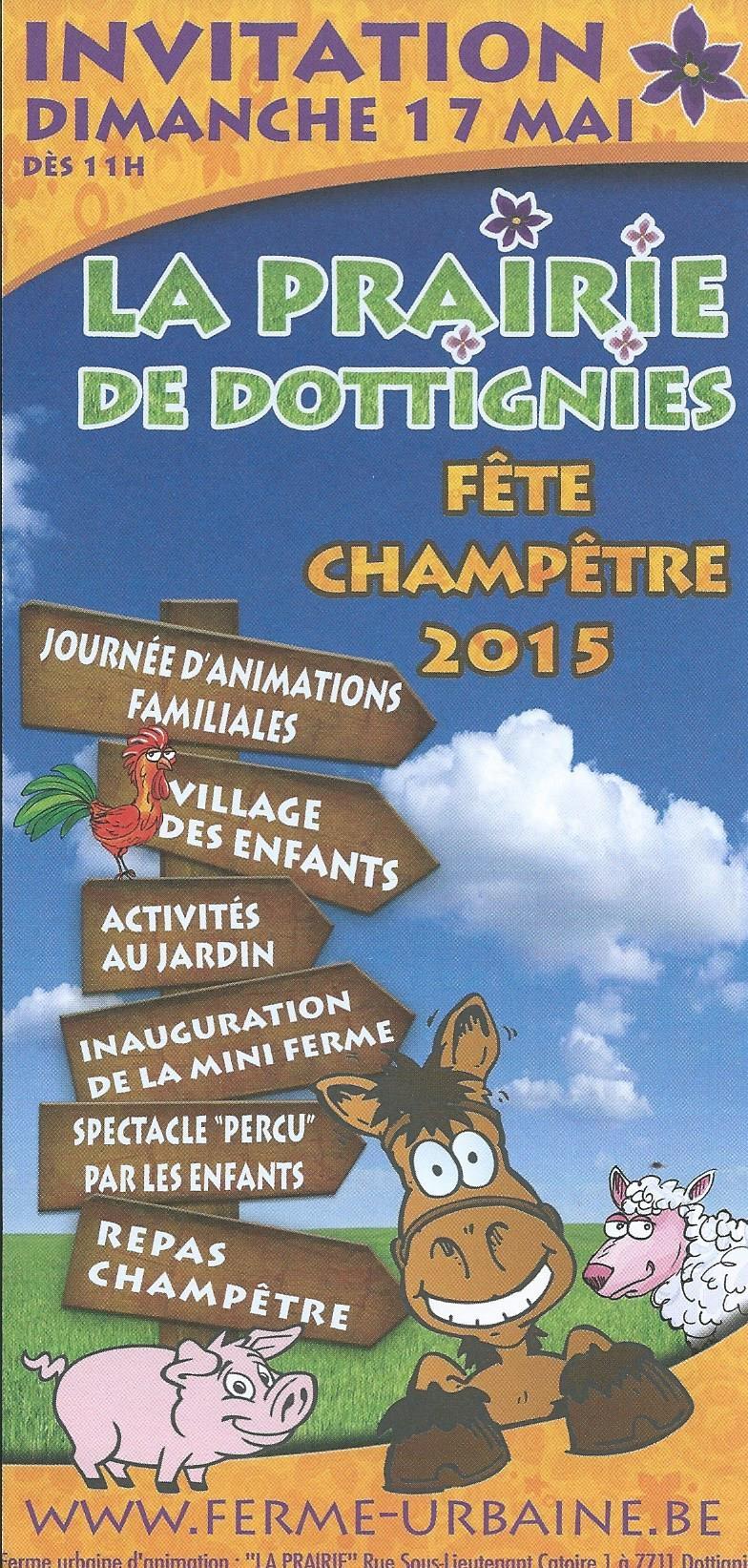 Fête Champêtre de la Prairie 2015 - Affiche