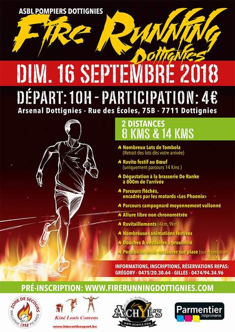 Fire Running Dottignies 2018