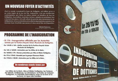 Inauguration du Foyer de Dottignies