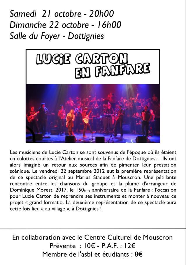 Lucie carton en fanfare