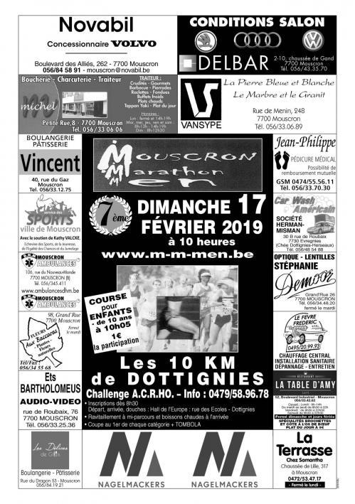 Mmmmarathon 10km Dottignies 2019