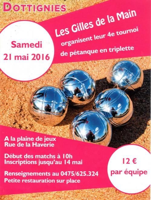 Tournoi de Pétanque en Triplette 2016