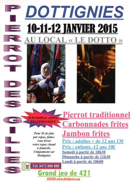 Affiche Pierrot des Gilles de la Main