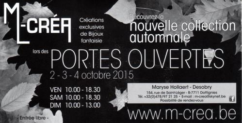 Portes ouvertes M-Créa - Octobre 2015