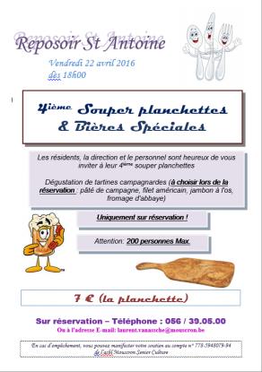 Souper Planchettes et Bières Spéciales 2016
