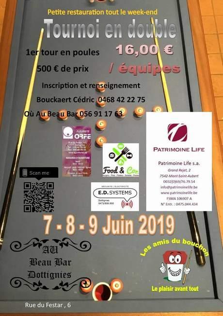 Tournoi en double juin 2019