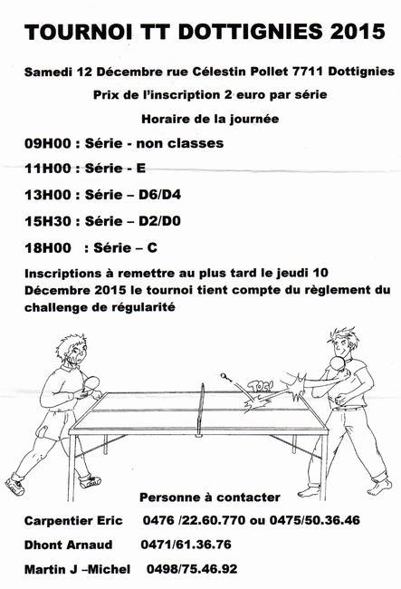 Tournoi ping-pong 2015